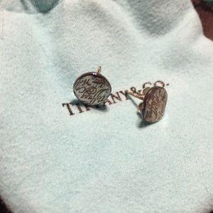 Tiffany & Co. silver wavy studs